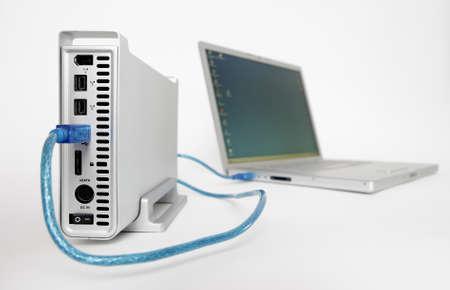 gigabytes: External hard drive connected