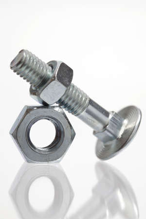 bolts and nuts: Bolt with metal nuts
