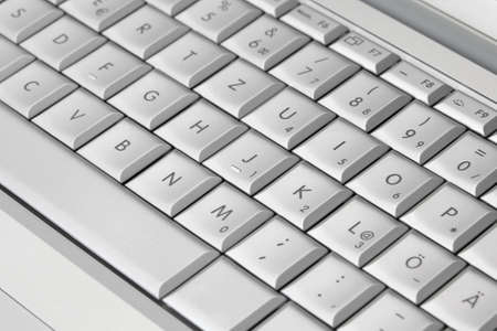 Closeup of a modern laptop keyboard photo