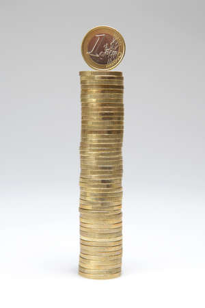 Euro coin stack Imagens - 9465194