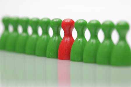 Board game pieces - symbol for leadership  photo