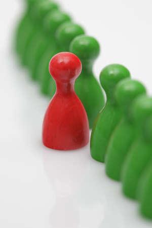 brettspiel: Brettspiel St�cke - Symbol f�r mobbing Lizenzfreie Bilder
