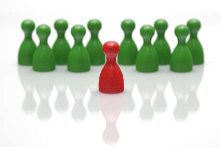 excluded: Board game pieces - symbol for leadership  Stock Photo