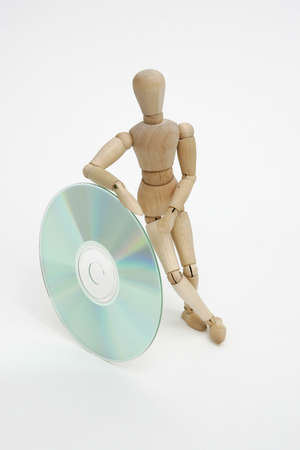 Jointed doll with cd photo