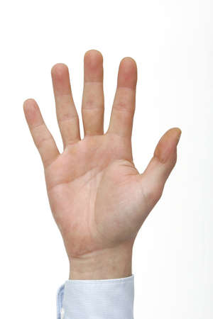Hand counting five Stock Photo - 9510318