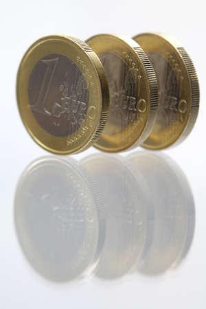 Three euro coins Stock Photo - 9539191