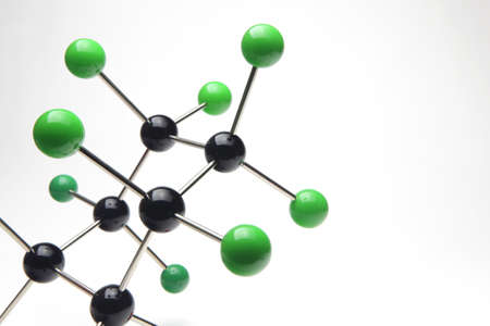 Model of a Molecule on white background photo