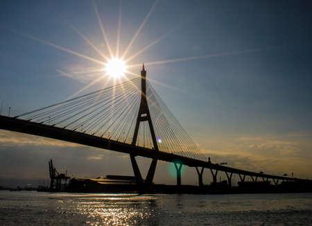 sensory perception: bridge and sun rise