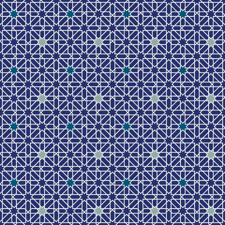 braiding: Moorish Star Seamless Pattern Background