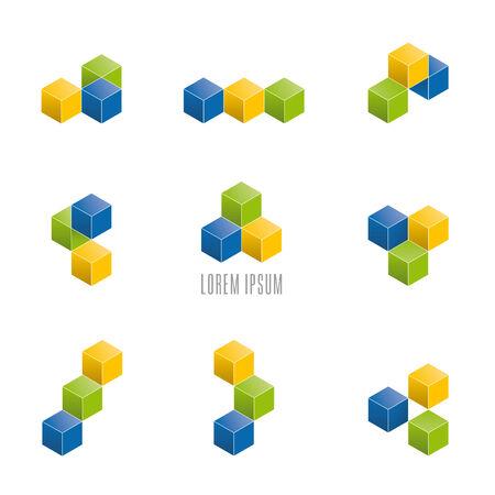 Cubic Company Logo  Design Elements