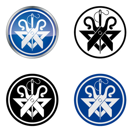 Tailor  Traditional Craftsmen s Guild Vector Symbol, four variations