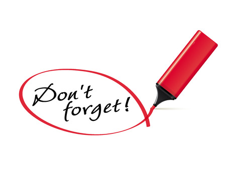 Don t forget - text marker with squiggle