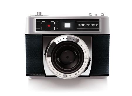 viewfinder vintage: Detailed Vector Illustration of Vintage Viewfinder Camera from the 1960s Illustration