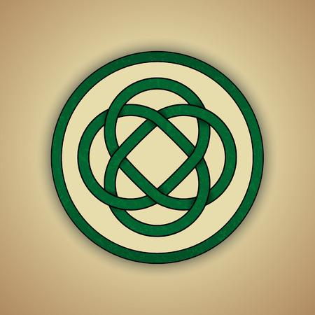 keltische muster: Celtic Lovers Knot Symbol der ewigen Liebe Illustration