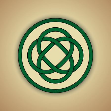 Celtic Lovers Knot Symbol of Eternal Love Vector