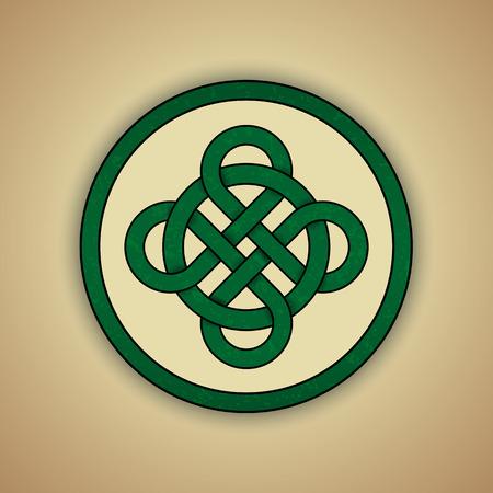 celtic symbol: Celtic Knot Symbol of Luck Illustration