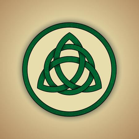 Símbolo céltico del nudo de la Trinidad Ilustración de vector