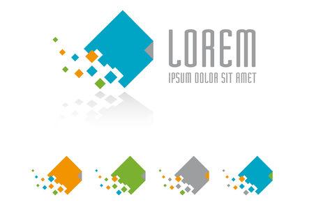 dissolving: Dissolving document logo design template Illustration