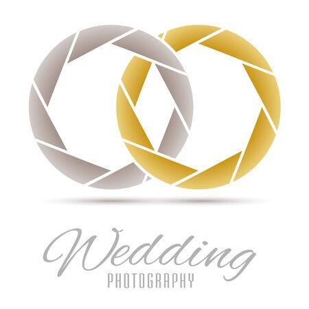 wedding rings: Wedding Photography Vector Design Template