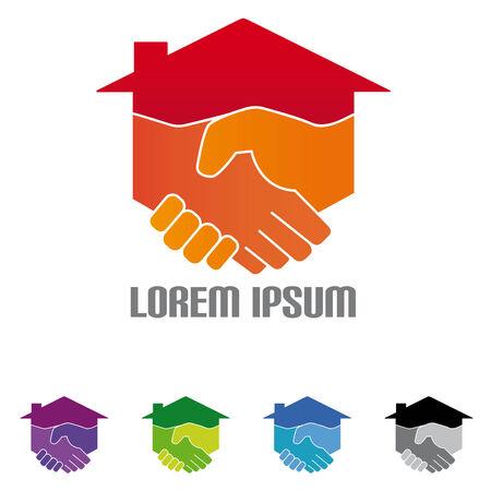 logotipo de construccion: Construcción y Service Company Logo Vectores