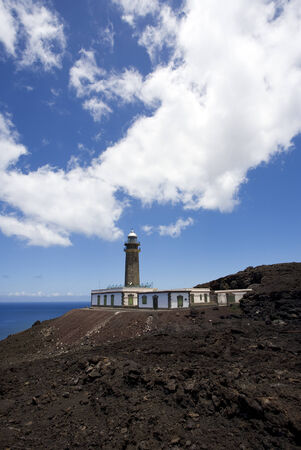 meridian: Faro de Orchilla, the lighthouse at the westernmost point of the Canary Islands, formerly point of the prime meridian Stock Photo