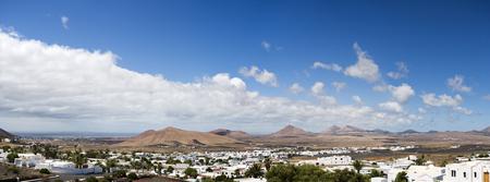 lanzarote: panorama of Lanzarote, view from Oasis de Nazaret near Teguise