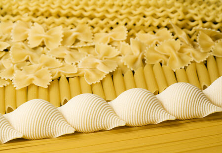 geometric pasta background, horizontal photo