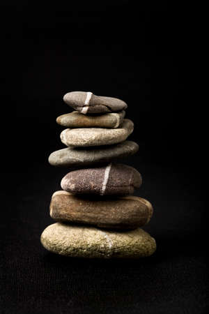 odd: stack of seven odd pebbles