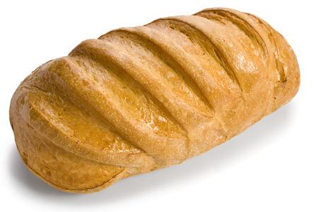 pain blanc: pain blanc frais isol� Banque d'images
