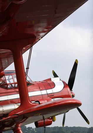 doubledecker: front of vintage  doubledecker airplane