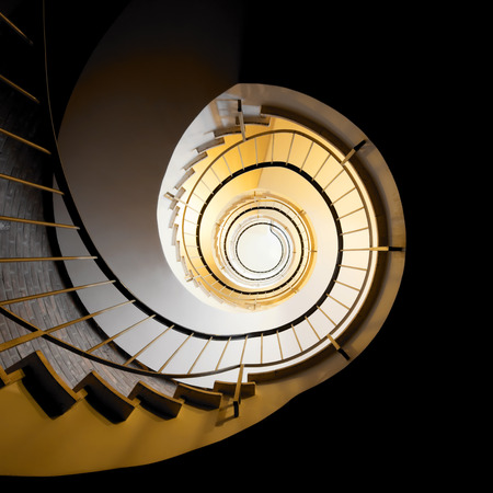 spiral staircase: spiral staircase vie from below Stock Photo