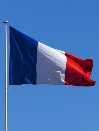 flagpole: the french flag on a flagpole