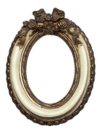 Baroque picture frame: de forme ovale cadre photo baroque isol� sur blanc