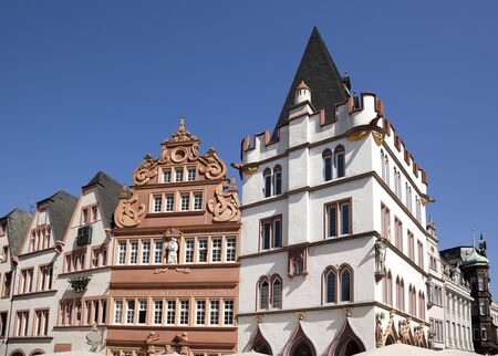 old hauses at  Hauptmarkt, the central market place of Trier, Germany