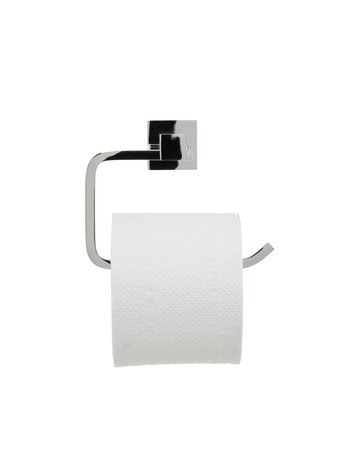toilet paper holder with roll