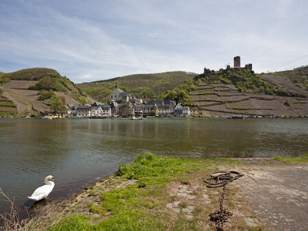 mosel: Beilstein village and metternich castle on the Mosel River Editorial