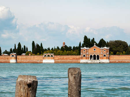 san michele: portal of the Venice cemetery on the island of San Michele Stock Photo