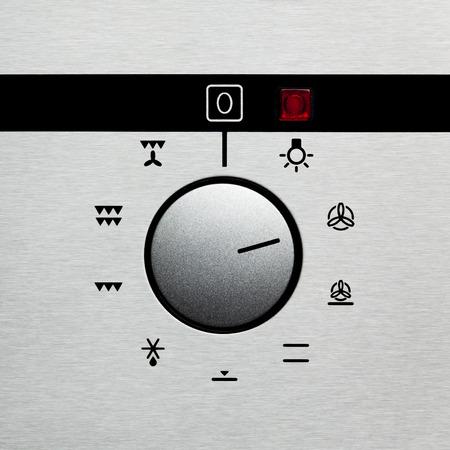 acier bross�?: cadran four acier bross� Banque d'images