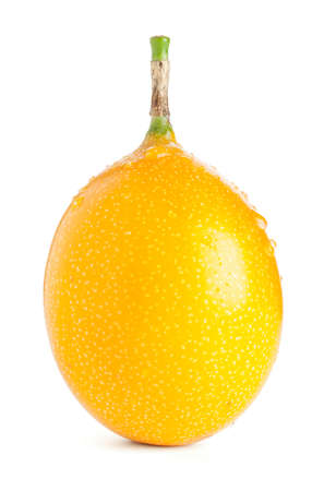 grenadilla: single Grenadilla passion fruit isolated with clipping path Stock Photo