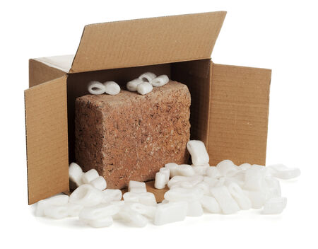 trickery: open parcel with brick inside
