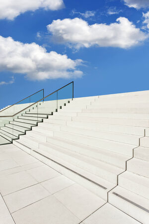 undetermined: empty stairway leading to the sky