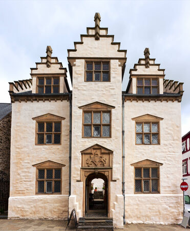 elizabethan: Elizabethan town house Plas Mawr at Conwy, North Wales Editorial