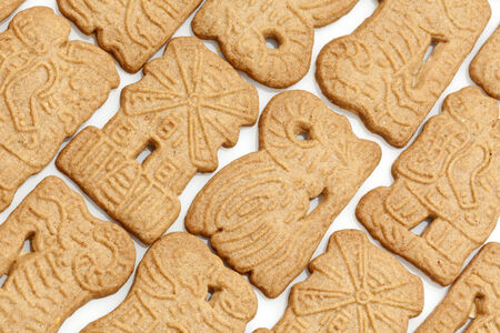 speculaas: traditional dutch speculaas cookies background