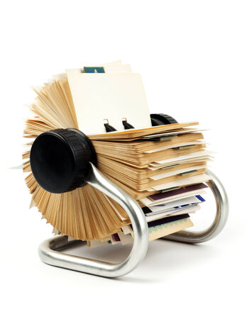 alphabetical order: traditional rotary card file
