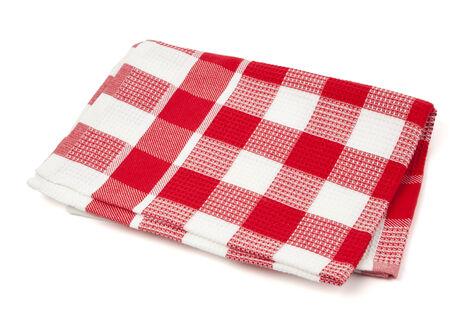 rouge et blanc torchon à carreaux