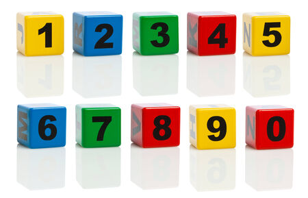 Building Blocks With Numbers From 0 to 10, isolated on white background. Ultra High Resolution Composing. Stock Photo - 29487421