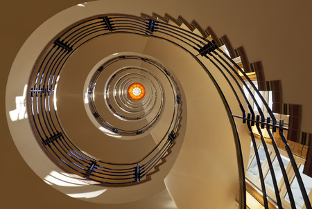 seven story spiral staircase Stock fotó