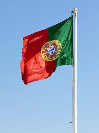 flagpole: Portuguese flag on flagpole