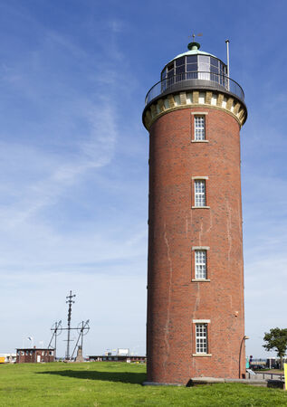 alte: Lighthouse at the harbor of Cuxhaven, going by the name of Alte Liebe