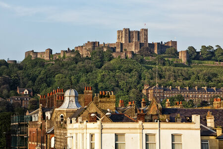 dover: Dover Castle above the city Editorial